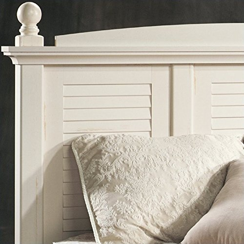 Sauder Harbor View Headboard, Full/Queen, Antiqued White