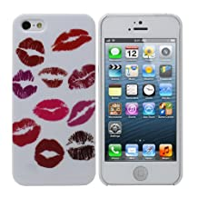 Fosmon SLIM Series Crystal Design Case for New Apple iPhone 5 / 5S - (Lip Kisses)