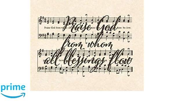 Amazon Com Praise Hymns Sheet Music Wall Decor Set 2
