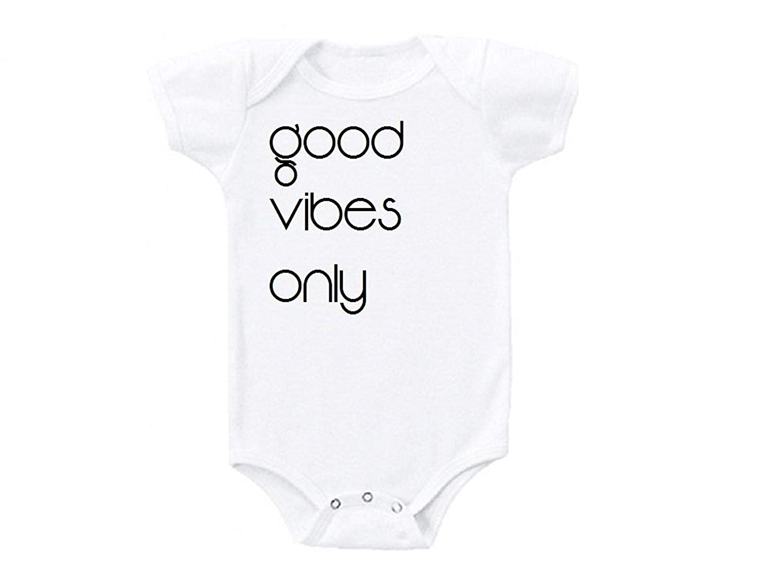 Promini Good Vibes ONLY Humor Love Cute Baby Onesie Gift Novelty Tshirt Costume Babies Bodysuit