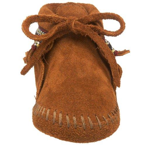 Minnetonka Braid Bootie - patucos de bebé Unisex bebé Marrón (Brown)