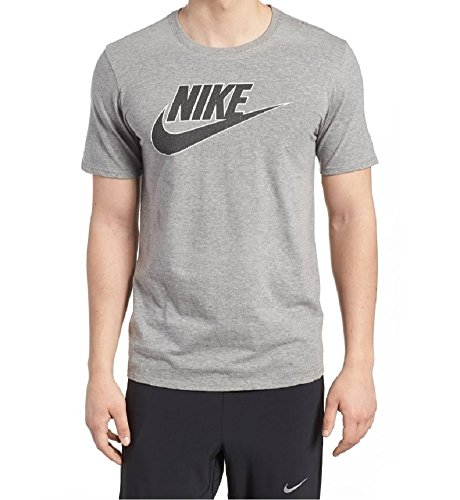 NIKE Mens Futura Icon T-Shirt Athletic Cut. Color Grey/Size: Large