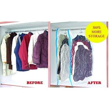 Amazon Com 4 Pack Large Vacuum Seal Hanging Garment Bags