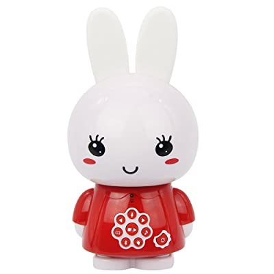 alilo G6+ Honey Bunny 8GB Children MP3 Player with Bilingual Story Song LED Night Light Early Educational Toy for Kids (Bluetooth Red): Toys & Games