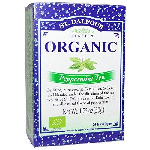 St Dalfour Peppermint Tea - St. Dalfour, Peppermint Tea, 25 Tea Bags, 1.75 oz (50 g) -- 2PC