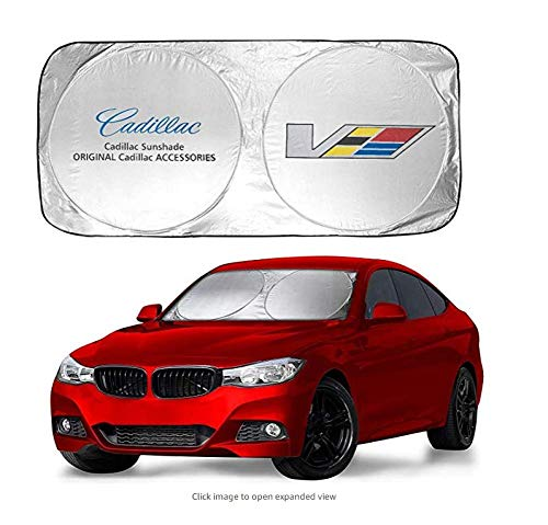 Cadillac Windshield - Ephvan 150X70cm Car Window Sun Shade Car Windshield Visor Cover Block Front Window Sunshade UV Protect Car Window Film (fit Cadillac)