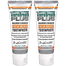 TheraBreath PLUS Maximum Strength Fresh Breath Toothpaste - Professional Formula, 4 Ounce (Pack of 2)