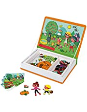 Janod MagnetiBook 120 pc Magnetic 4 Seasons Scenery Game for Education and Creativity - Book Shaped Travel/Storage Case Included - S.T.E.M. Toy for Ages 3+