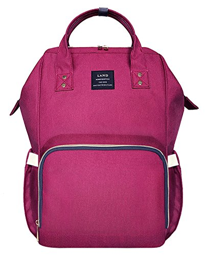 Diaper Bag Backpack for Baby Boys and Girls Travel Maternity Nappy Bag for Mom and Dad,Rose (Baby Pink Diaper Bag)