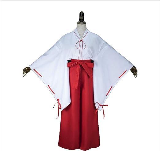 YKJ Anime Personaje Bruja Bata Blanca Pantalones Rojos Disfraz de ...