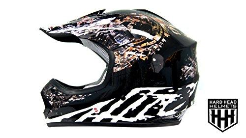 SmartDealsNow DOT Youth & Kids Helmet for Dirtbike ATV Motocross MX Offroad Motorcyle Street bike Helmet (Large, Black Camo)