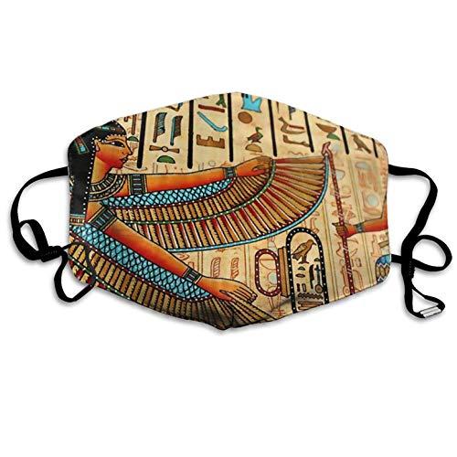 Bennett11 Egyptian Pharaoh Printed Mouth Masks Unisex Anti-dust Masks Reusable Face Mask