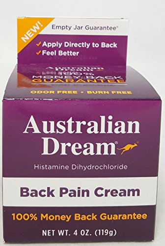 Australian Dream Back Pain Cream, 4 Ounce Per Jar (6 Pack)