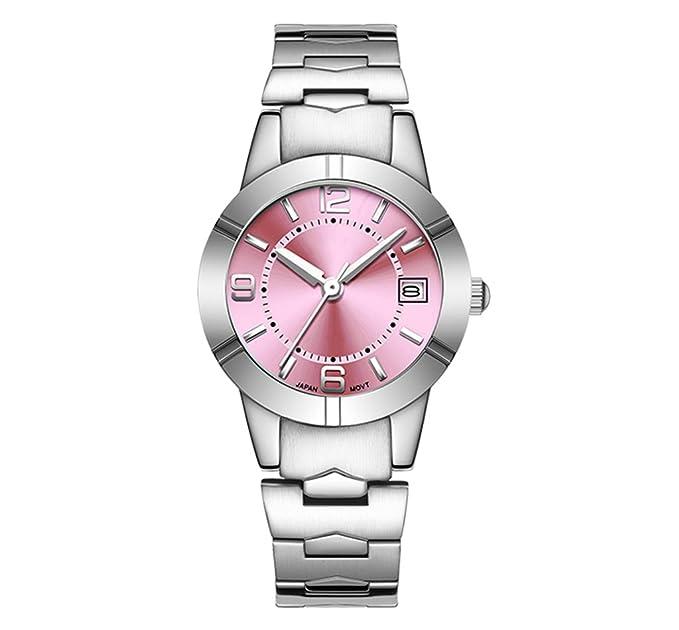Reloj de pulsera de cuarzo de acero resistente al agua para mujer reloj pequeño de cuarzo