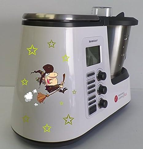 Grafix – Pegatina para Monsieur Cuisine Plus de caldero Bruja verde nuevo: Amazon.es: Hogar