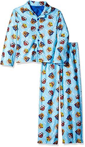 Nickelodeon Boys' Toddler Paw Patrol 2-Piece Pajama Coat Set, Safety Crew Blue 2T ()