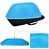 Dream,Gel Chair Seat Cushion-Design Seat Pad for Office Chair, Car, Wheelchair-Pain Relief Back & Sciatica & Coccyx with Washable Cover
