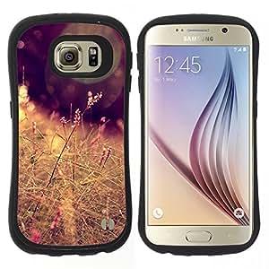 """Hypernova Slim Fit Dual Barniz Protector Caso Case Funda Para Samsung Galaxy S6 [Sun campo del heno Marrón Cálido""""]"""
