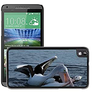 Hot Style Cell Phone PC Hard Case Cover // M00111255 Hungry Pelican Attack Animal Water // HTC Desire 816