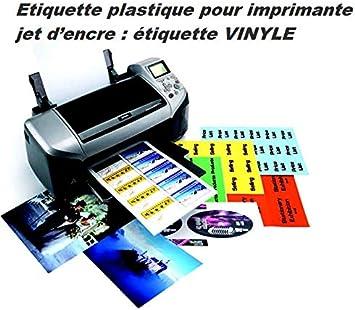Fogli di 14 etichette in plastica vinile bianco 99 x 38,1 mm per stampante a getto dinchiostro Etichetta adesiva 99 x 38,1 mm Foglio adesivo permanente per stampare adesivi