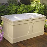 99 Gallon Stay-Dry Resin, Locking Lid Deck Box, White