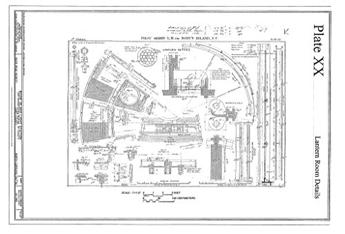 Historic Pictoric Blueprint Diagram HABS NC-395 (Sheet 34 of 36) - Bodie Island Light Station, Off Highway 12, Nags Head, Dare County, NC 12in x 08in