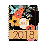 2018 Planner BIG SALE 6 Color Pens ~ Purse-Size 9'x7.5' ~ Daily, Weekly, Monthly Calendar Agenda ~ Boost Productivity for Moms, Teachers & Students ~ Hardcover Notebook ~ Dated Feb 2018 - Jan 2019