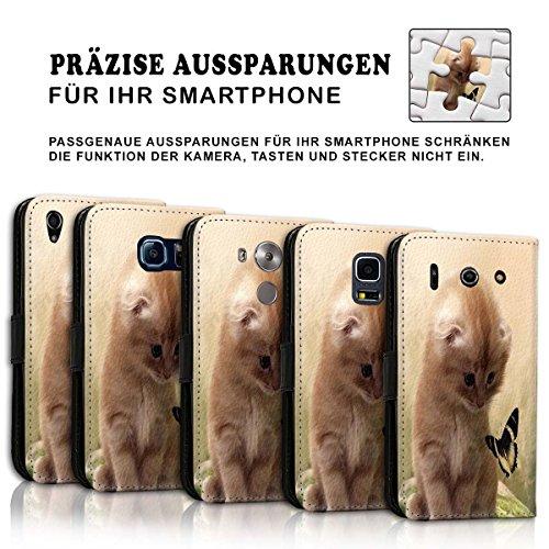 Wallet Book Style Flip Handy Tasche Case Schutz Hülle Schale Motiv Etui für Apple iPhone 5 / 5S - Design Flip MVD368