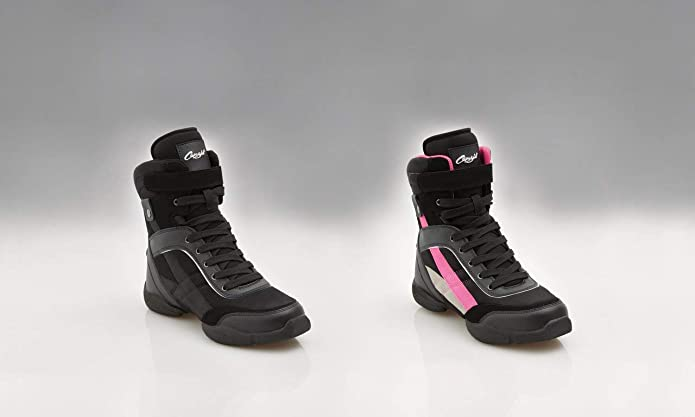 Black and Pink Capezio DS34 Battle Boots split sole dance sneakers size UK 5.5