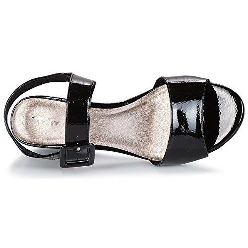 28211 Alla Tamaris Nero Sandali Donna Con Caviglia Cinturino PqwxdSw