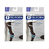 Truform Compression 20-30 Mmhg Sheer Thigh High Stockings Black, Large, 2 Count
