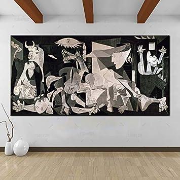 yiyiyaya YSDAFEN España Francia Picasso Classic Guernica Alemania Figura Lienzo Arte impresión Pintura Cartel, Pared Picturer 40x80cm