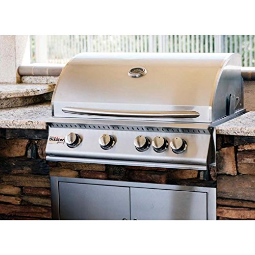 """Summerset 32"""" Sizzler Gas Grill, Your Choice of Natural Or Propane Gas - SIZ32-NG Or SIZ32-LP - With FREE Grill Cleaning Kit From Premier Grilling (32"""" Propane Gas)"""