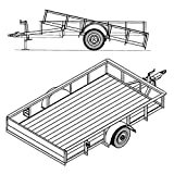 6' 4'' x 10' Utility Tilt Trailer Plans Blueprints, Model 1110T