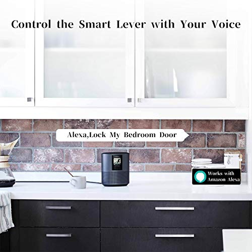 Smart Lock,SMONET Fingerprint Door Lock with Reversible Handle,Keyless Entry Bluetooth Lock ,Free APP,IC Card,Anti-peep…