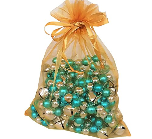 - Large Organza Bags 10 Gold 8x11 Sheer Fabric Gift Pouch