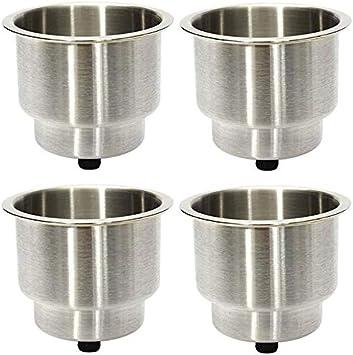 68x55mm Edelstahl Drop In Drink Cup Holder f/ür Pokertisch Couch POFET 4 St/ück Universal Marine Boat Cup Holder
