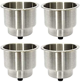 2Pcs Stainless Steel Cup Drink Bottle Holder Rust and corrosion resistant Cup Holder for Marine Boat RV Camper