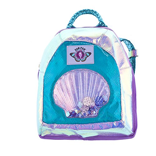 Dan-Pak Mini Backpack Hydration Pack -Plurmaid - Mermaid Scales, Clear Shell, and Sequins Backpack