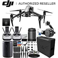 DJI Inspire 2 Quadcopter (CinemaDNG and Apple ProRes Licenses Included) with Zenmuse X7 Camera, 24mm f/2.8 ASPH LS Lens & Extra Remote Controller Transmitter Bundle