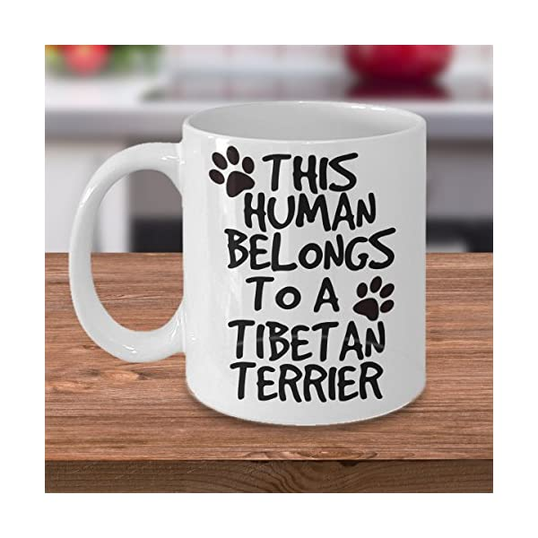 Tibetan Terrier Mug - White 11oz Ceramic Tea Coffee Cup - Perfect For Travel And Gifts 4