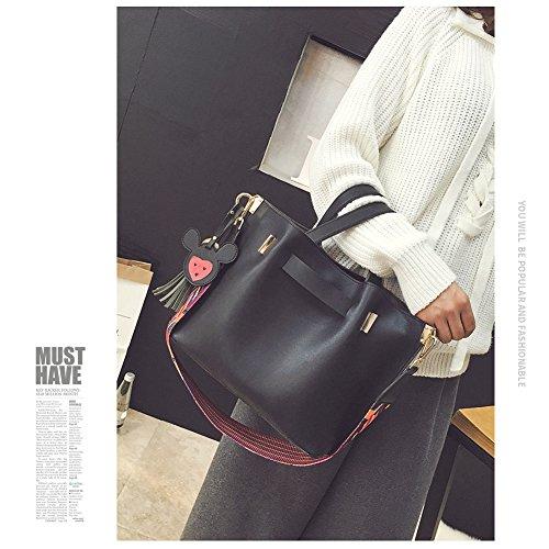 Sacchetto di cintura di Yoome per le borse della nappa delle donne Top Handle Satchel sacchetti alla moda per le ragazze della borsa delle signore - Nero