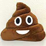 (US) Poop Emoji Smiley Emoticon Round Cushion Pillow Stuffed Cute Plush Soft Toy Doll Poop Pink Poop Purple Queen Poop Pink Queen Poop Rainbow Poop Rainbow Tongue Poop Car Home Office Accessory (POOP)