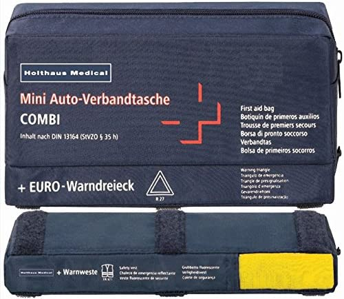 Complete European Vehicle Safety Kit with DIN First Aid Kit