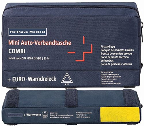 Complete European Vehicle Safety Kit with DIN First Aid Kit Holthaus Medical 62 220