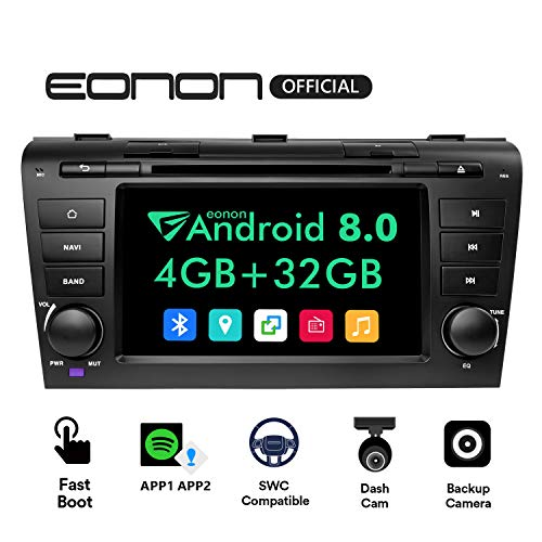 Dual Bluetooth Android Radio, Double Din Car Stereo Radio, Eonon 4GB RAM +32GB ROM Bluetooth Android 8.0 Head Unit Octa-Core 8 Inch in Dash Touch Screen Support WiFi,Fastboot -GA9151B