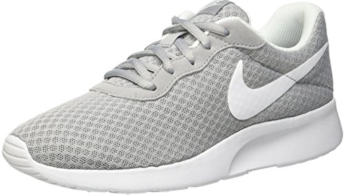 NIKE Women's Tanjun Running Shoes Wolf Grey/White Deal (Large Image)