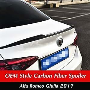 Amazon.com: 2017 Romeo Giulia Sedan Rear Spoiler-OEM Style