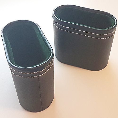 Backgammon Dice Cup (Hand-Made Dice Cups With Faux Leather Exterior And Green Felt Inside | Narrow Shape Makes It Fit Inside Many Board Games Such As Backgammon)