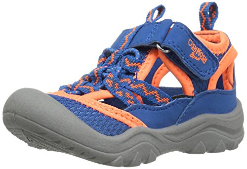 (OshKosh B'Gosh Hax Boy's Bumptoe Sandal, Blue/Orange, 10 M US Toddler)